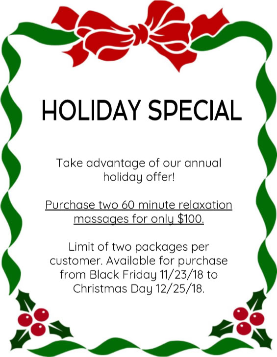 Click to Download Holiday Special Flyer